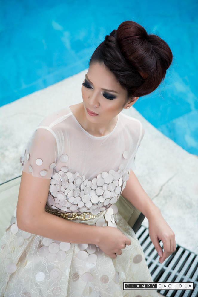 Model Princess Escoto posed for a photoshoot Jelly A Collection. Make Up by Alan Bolivar.