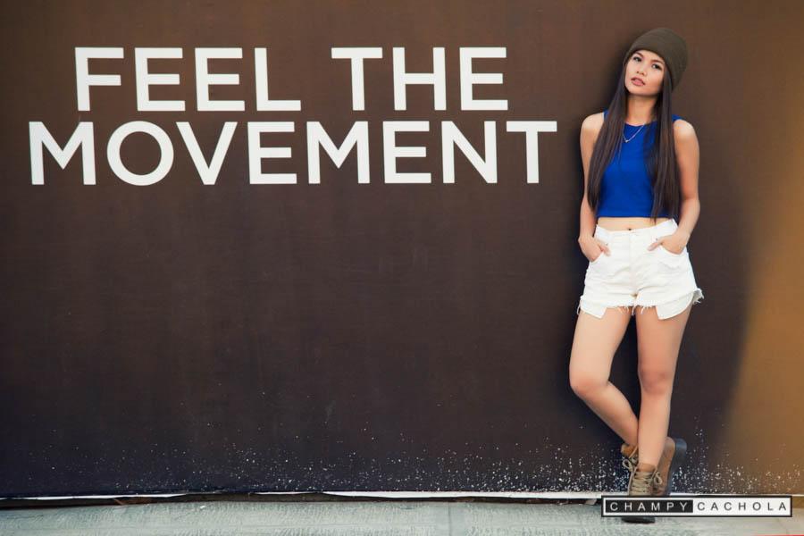 feel the movement background. shot taken at bonifacio global city in taguig.